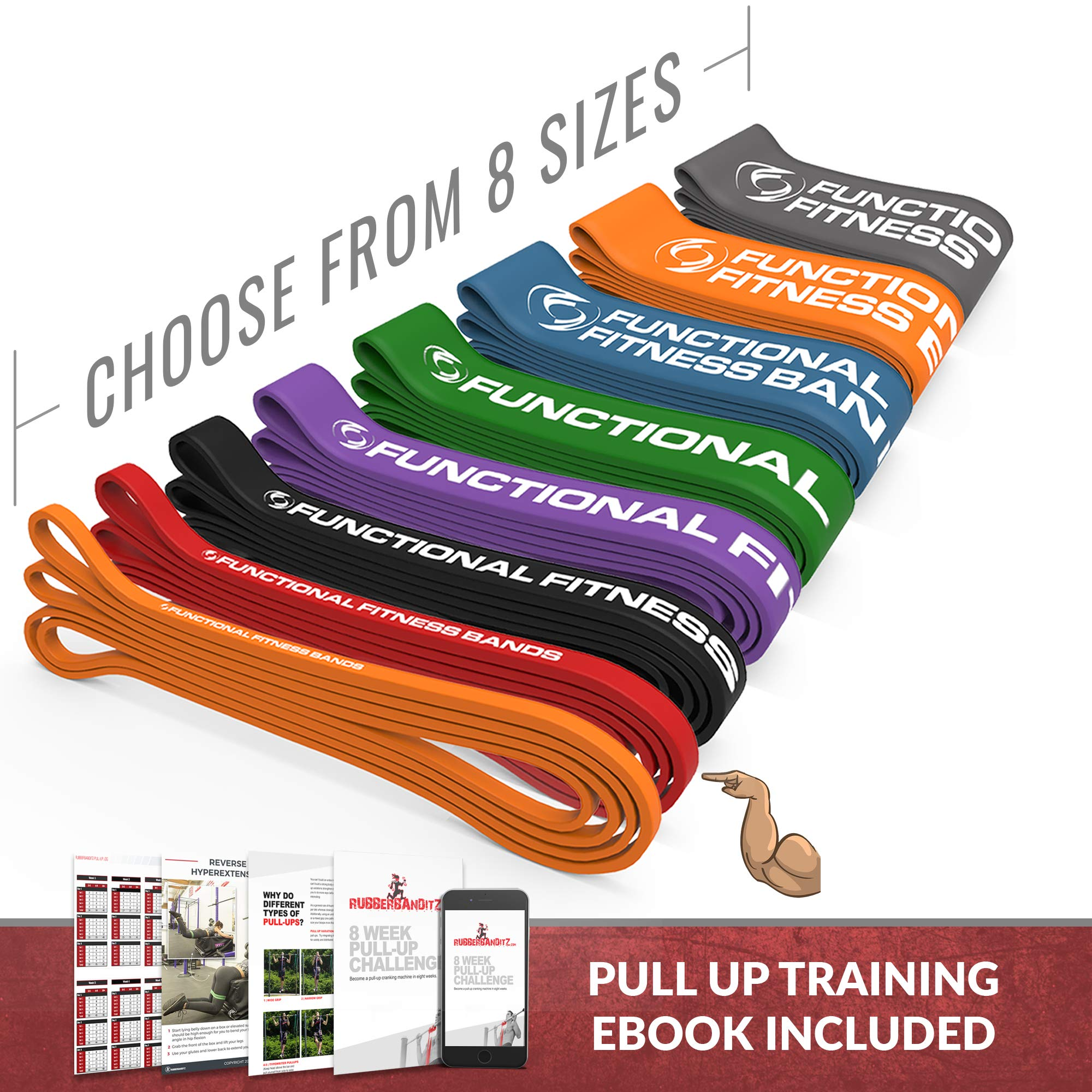 Rubberbanditz Functional Fitness Pull Up Assistance Resistance Band #2 - for 20-35 lbs of Resistance for Mobility, Stretching, Pilates, Exercise, Chin Ups, Powerlifting, Fitness & Crossfit by Rubberbanditz (Image #1)