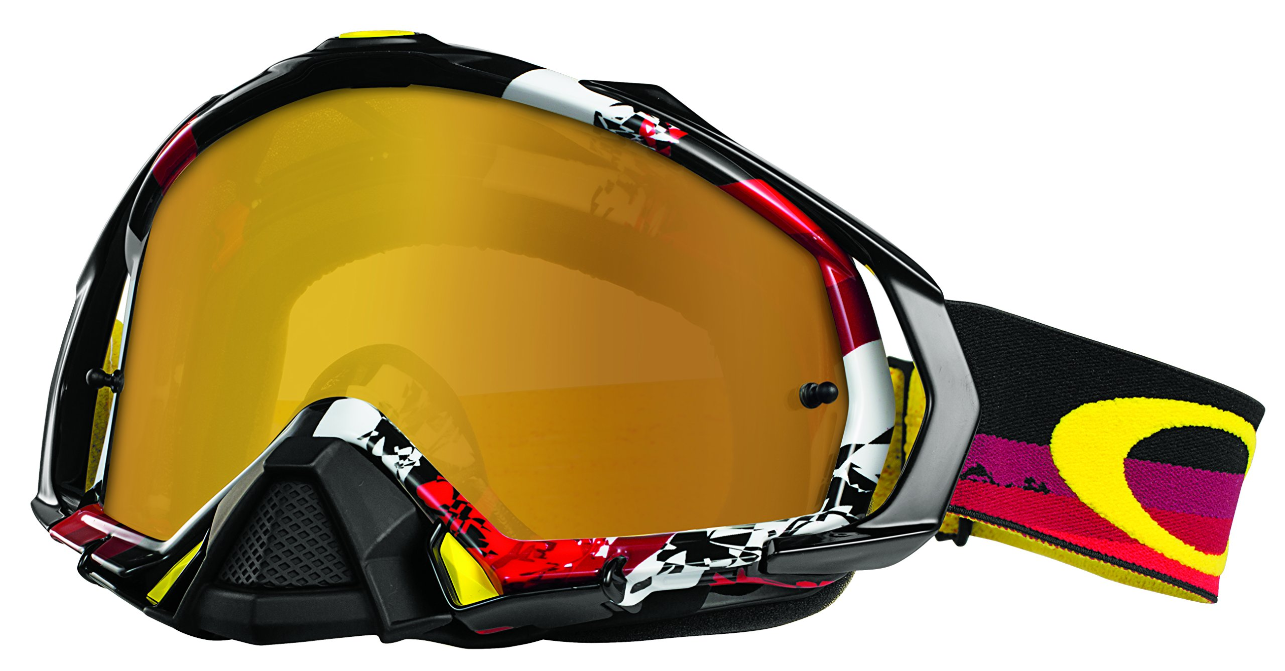 Oakley Mayhem Pro Legacy Goggles (White Frame/Fire Iridium Lens)