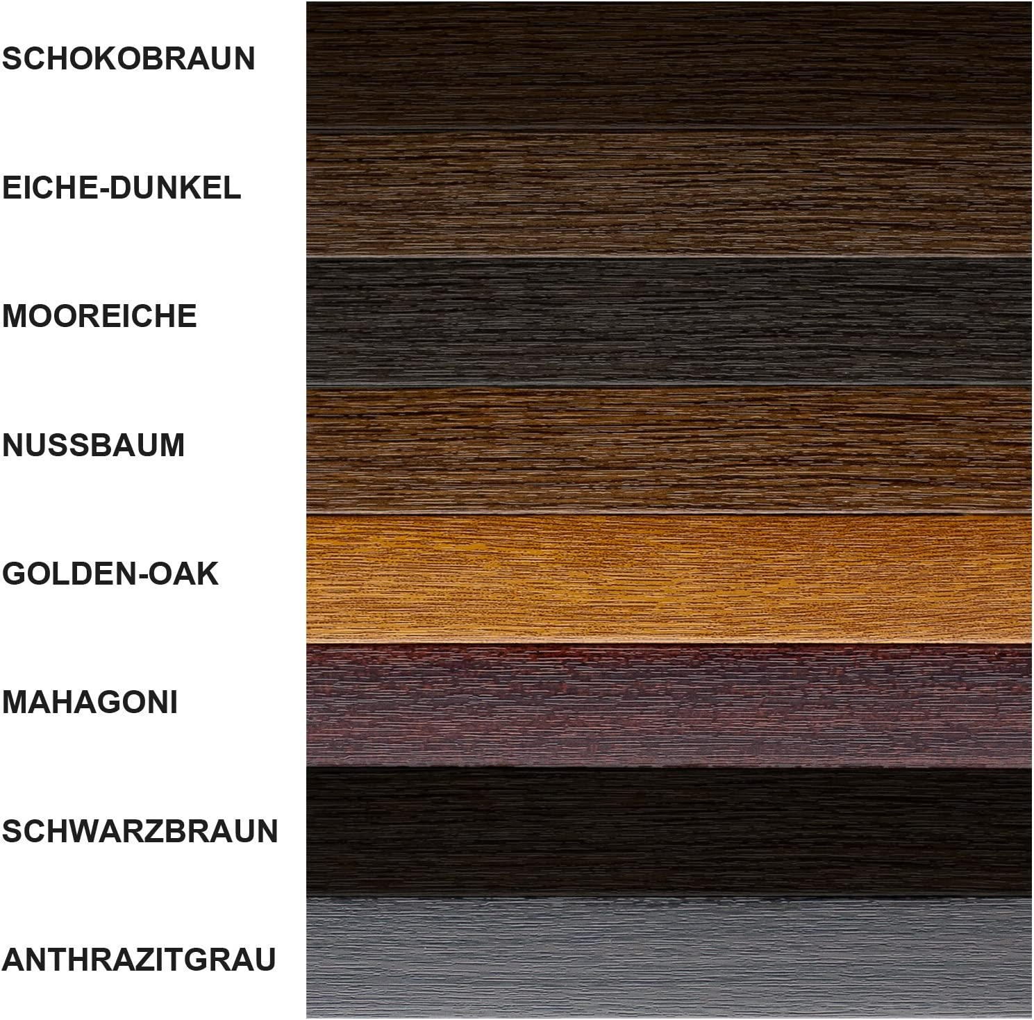 5 m Fensterleisten Flachleisten in grau dunkelbraun Fensterleiste Flachleiste Abdeckleiste 30mm H/öhe braun 1 m bis 50 m OHNE LIPPE anthrazit golden-oak 3,38/€ //m Made in Germany