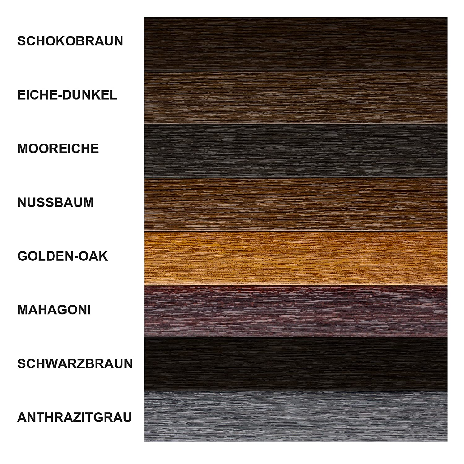 Fensterleisten Flachleisten in grau 3,49/€ //m Fensterleiste Flachleiste Abdeckleiste 30mm H/öhe dunkelbraun braun 10 m anthrazit golden-oak MIT LIPPE 1 m bis 50 m Made in Germany