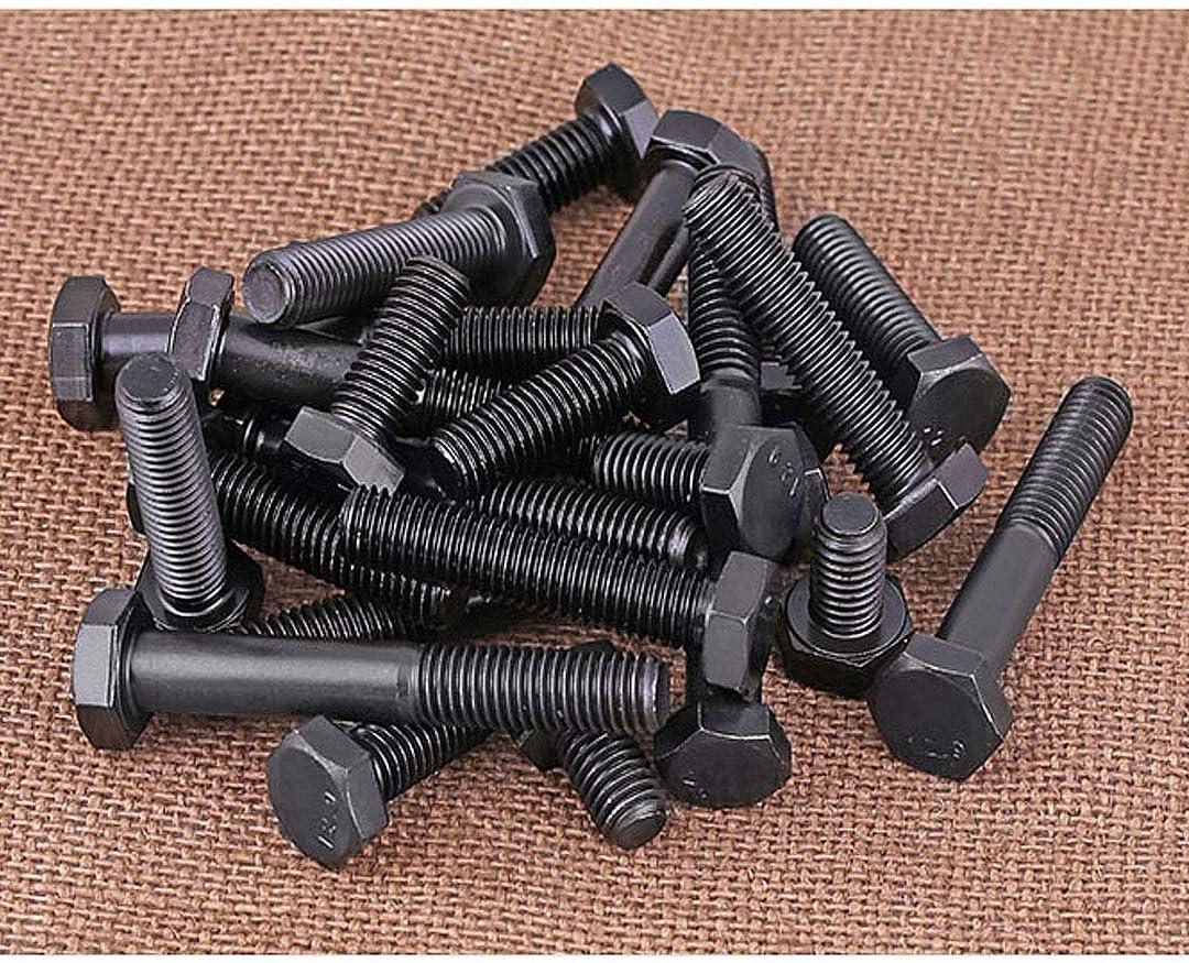 XIZONLIN Tornillos de Fijaci/ón Hexagonales de Acero al Carbono Negra Pernos Hexagonales Mec/ánicos M5/×8mm,20 piezas