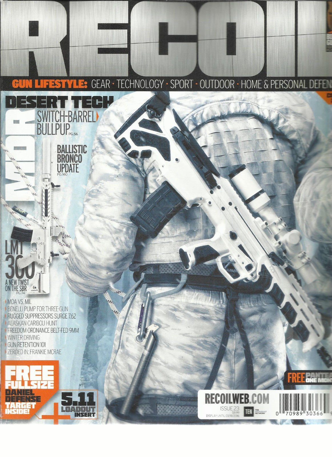 RECOIL, HOME & PERSONAL DEFENSE MAGAZINE, ISSUE, 33 THE KING OF 2 MILES