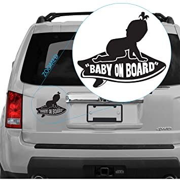 Baby On Board Girl aparece en Vans Tabla de surf adhesivo. SKU 302