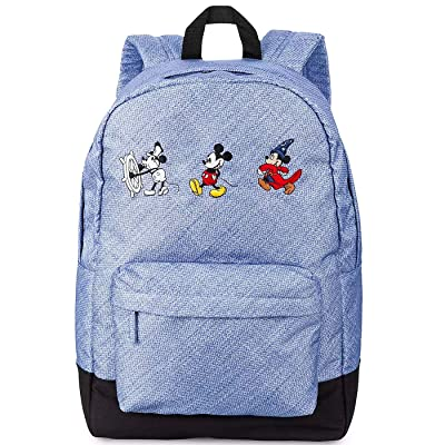Disney Mickey Mouse Through The Years Backpack for Men, Women & Kids Denim Blue: Clothing