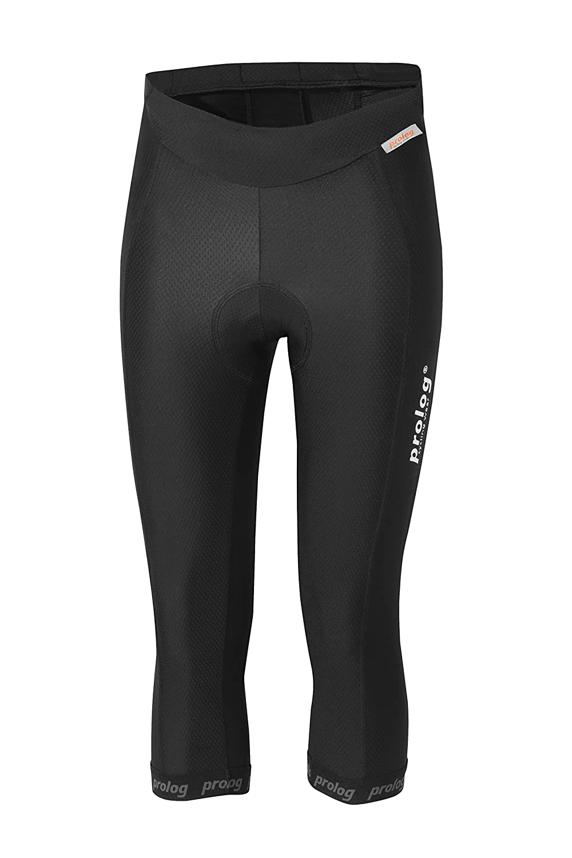Prolog cycling wear Radhose Damen 3 4 lang mit super Sitzpolster schwarz ohne Träger XS bis XXL