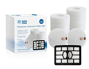 Fette Filter - Vacuum Filter Compatible with Shark Rotator Professional Lift-Away NV500, NV501, NV502, NV505, NV510, NV552, UV560. Compare to # XHF500 & XFF500. Combo Pack