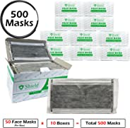 Professional Disposable Face Mask with Carbon Filter (4-Ply) with Earloop for Virus, Bacteria, Germ, Dust, Pollen, Particle