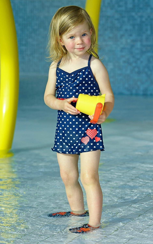 Playshoes M/ädchen Badeanzug UV-Schutz Rock Herzchen