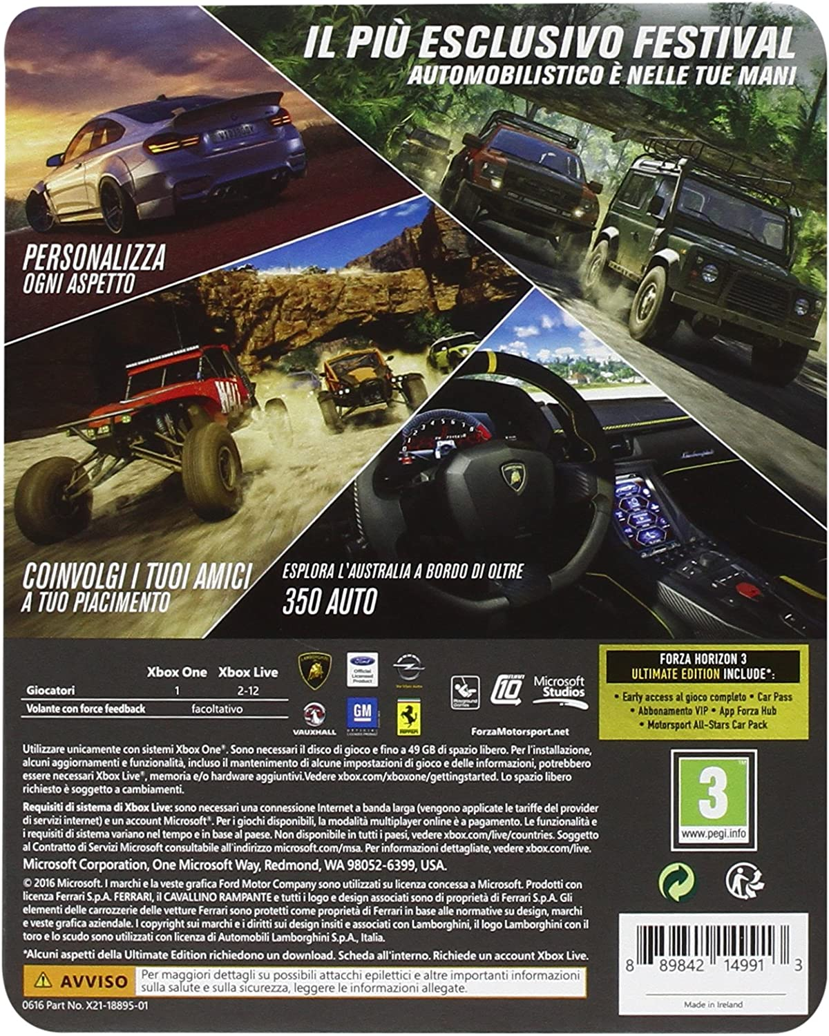 Forza Horizon 3 - Ultimate [Importación Italiana]: Amazon.es ...