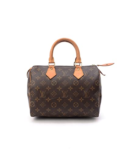 d79640038661 Women s Authentic Louis Vuitton Speedy 25 Brown Monogram Travel Bag ...