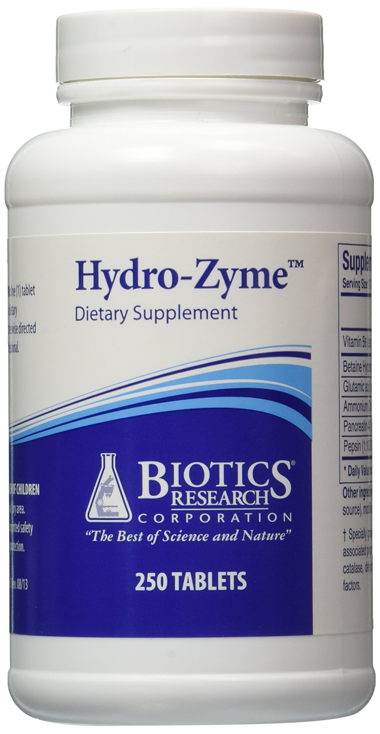 Biotics Research Hydro-Zyme -- 250 Tablets
