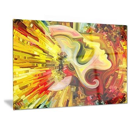 Amazon.com: Designart Beyond Inner Paint - Abstract Metal Wall Art ...