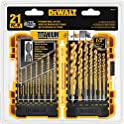 21-Piece DEWALT DW1361 Titanium Pilot Point Drill Bit Set