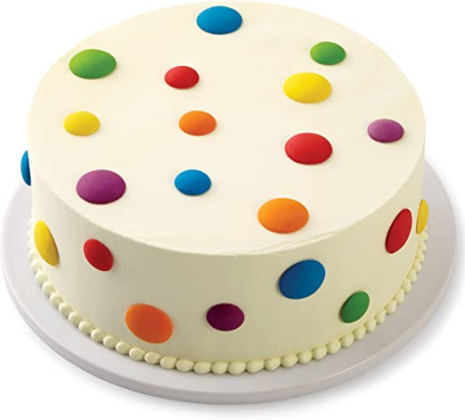 Pleasant Amazon Com Wilton Bright Dots Icing Cake Decorations 24 Count Funny Birthday Cards Online Fluifree Goldxyz