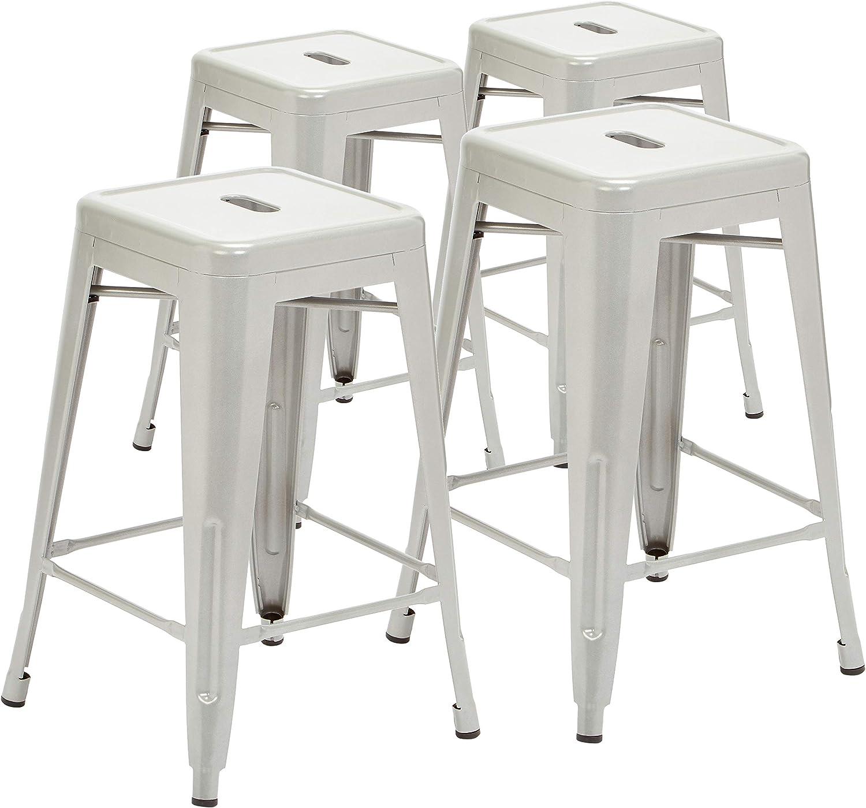 Pioneer Square Bt3503 24 Si Counter Stool 24 Silver Furniture Decor