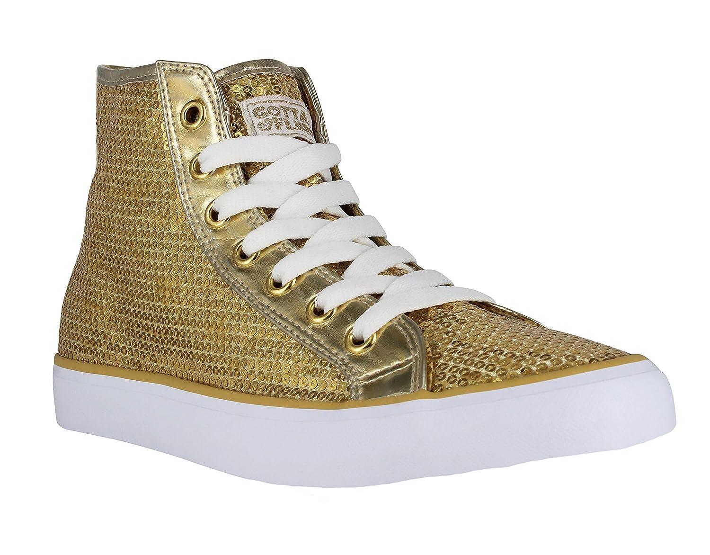 Gotta Flurt Hi Disco II Lace Up Top Sneaker B01N8TDGRS 7.5 M(B)|Gold