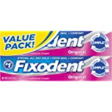 Fixodent Complete Original Denture Adhesive Cream Twin Pack 4.8 Oz