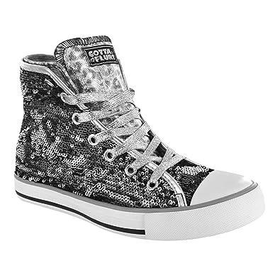 Gotta Flurt CONVERTIBLE AURORA High Top Sneaker Size 8 black/Silver