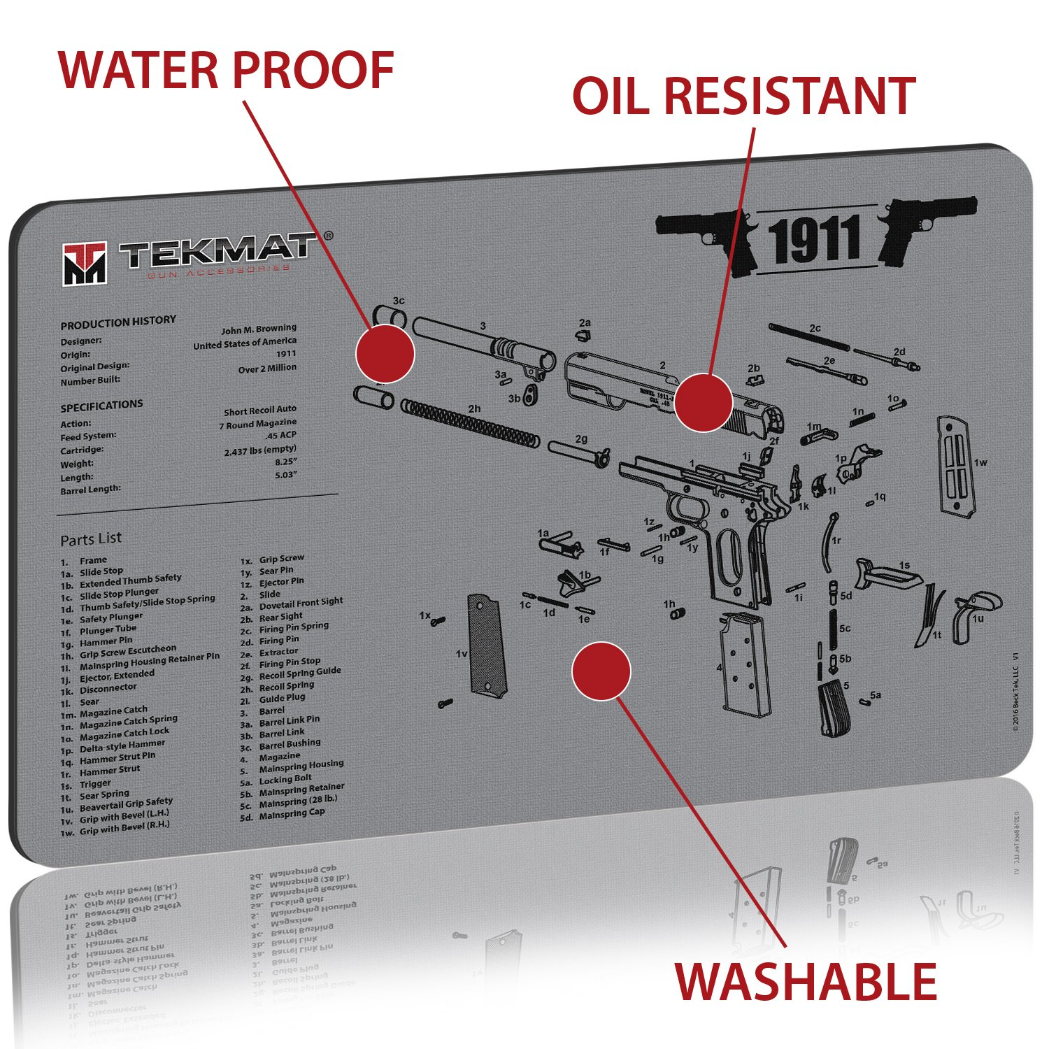 M1911 Diagram 1911 Magazine Free Download Wiring Diagrams Pictures Tekmat Cleaning Mat Thick Durable 1500x1500 Image