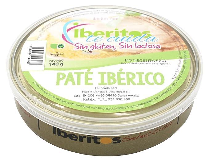 Iberitos Paté Ibérico Sin Lactosa- Paquete de 10 x 140 gr - Total: 1400