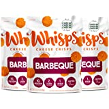 Whisps Barbeque Cheddar Cheese Crisps | Back to School Snack, Keto Snack, Gluten Free, Low Sugar, Low Carb, High Protein…