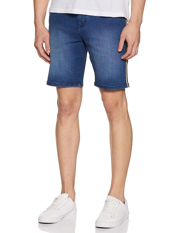 Amazon Brand – House & Shields Men's Regular Fit Cotton Denim Shorts