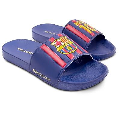 ddda848dcbf Amazon.com  FC Barcelona Messi Mens Pool Slide Sandal