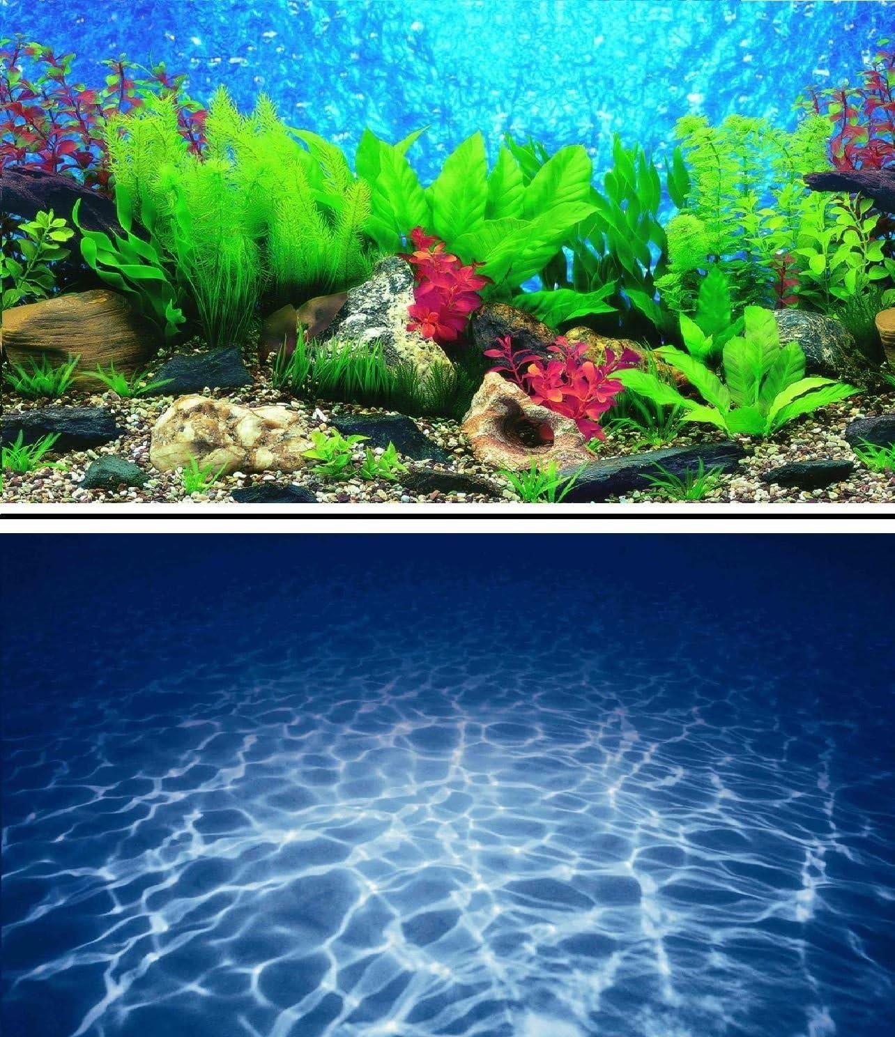 50cm Double Sided Aquarium Background Backdrop Fish Tank Reptile Vivarium Marine 19