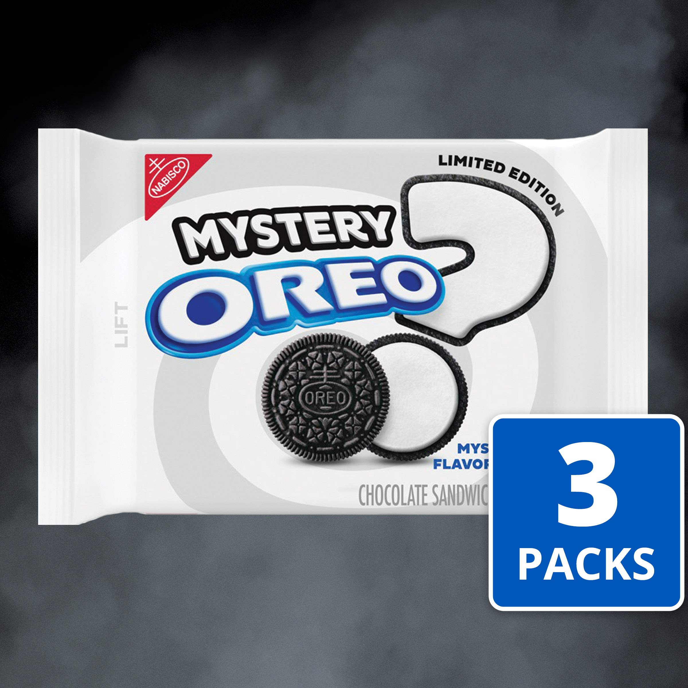 Oreo Chocolate Sandwich Cookies, Limited Edition Mystery Flavor Creme, 3 Resealable Pack (12.2 Ounce .), 3Count by Oreo