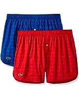 Lacoste Men's 2-Pack Authentic Woven Boxer