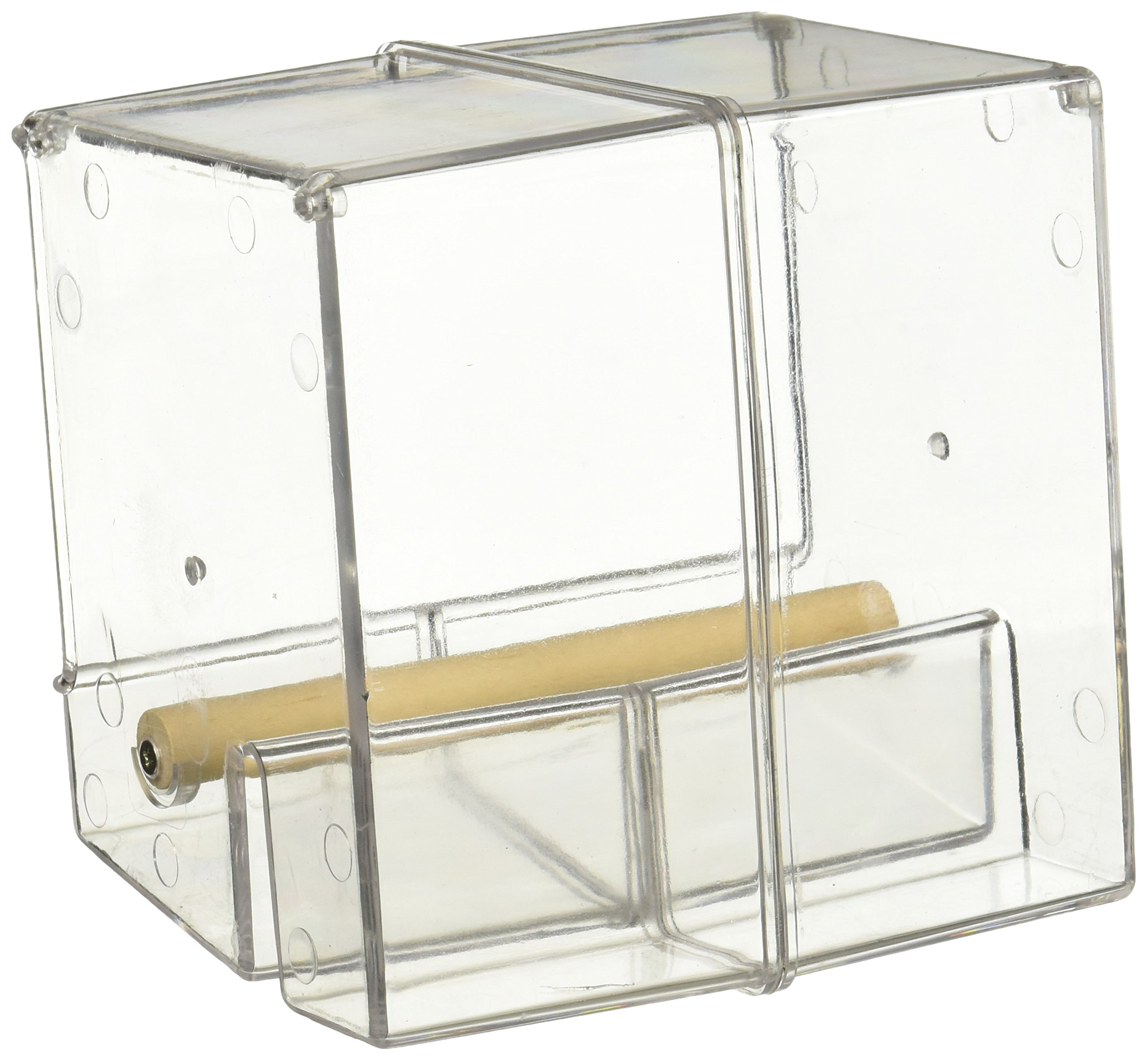 Creative Foraging Systems Seed Corral No Mess Pet Feeder, Keeps Cage Cleaner by Caitec Corp