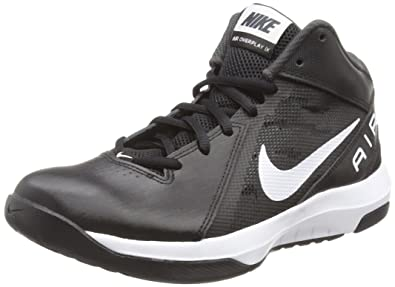 Nike Men s The Air Overplay IX Basketball Shoe Black Anthracite Dark  Grey White 753609e77