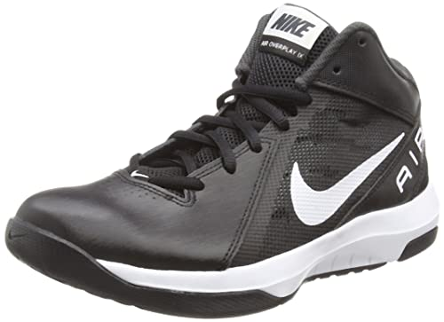 a40e82e91d3 Nike Men s The AIR Overplay IX Blk Wht-Anthracite-Dark Gry Basketball Shoes