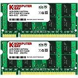 Komputerbay 8GBメモリ 2枚組 DDR2 667MHz PC2-5300 4GBX2  DUAL 200pin SODIMM ノート パソコン用 増設メモリ 8GB デュアル