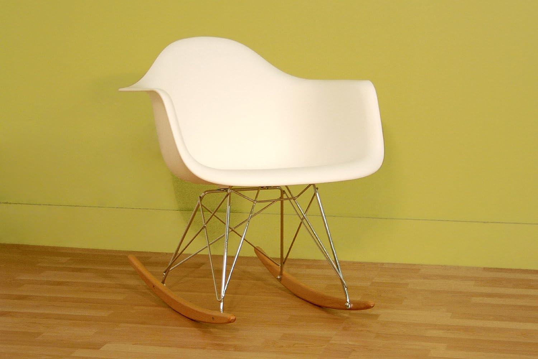 Amazon.com: Baxton Studio Letterio White Cradle Chair: Kitchen U0026 Dining