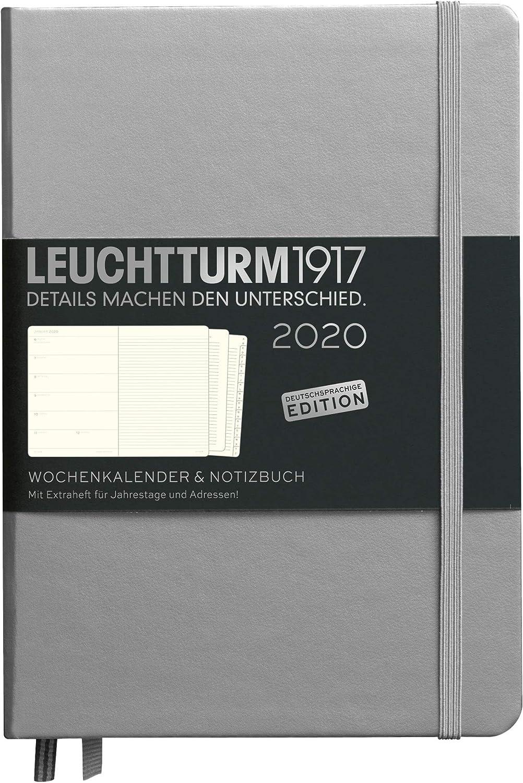 LEUCHTTURM1917 359875 Wochenkalender /& Notizbuch Hardcover Pocket A6 mit Extraheft 2020 Marine Deutsch