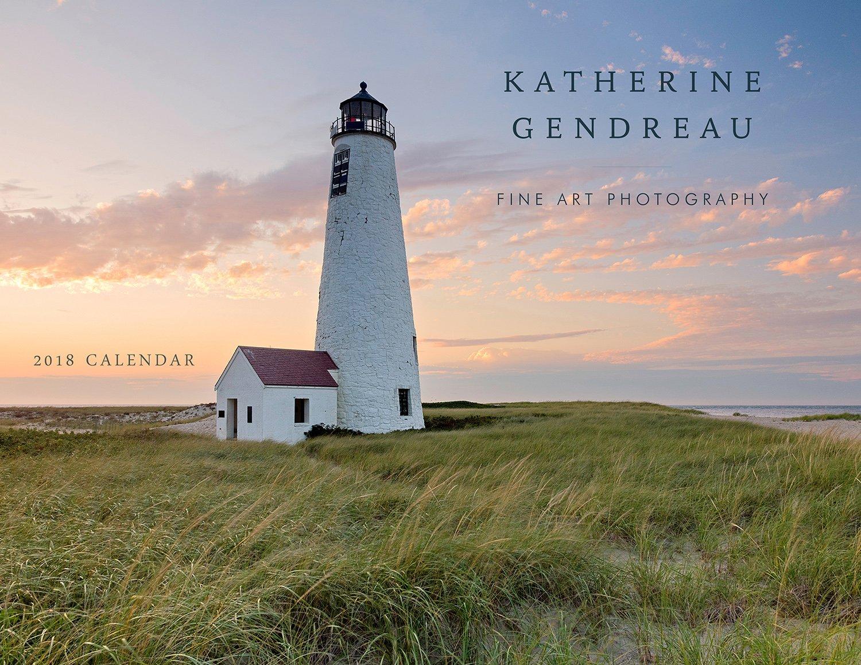 2018 Wall Calendar, Beach Photography Calendar, Seascape Photo Calendar, Lighthouse Calendar, Nantucket, Cape Cod, Rhode Island