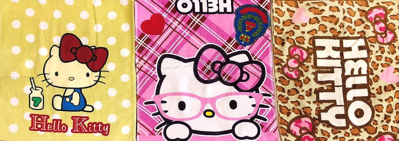 3 Piece Hello Kitty Terry Hand Towel Set, 34 x 80 cm