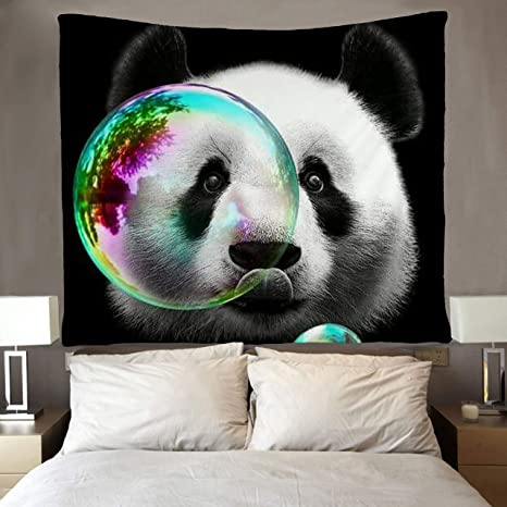 Amazon.com: SARA NELL Panda Tapiz Art Wall Hippie Art Panda ...