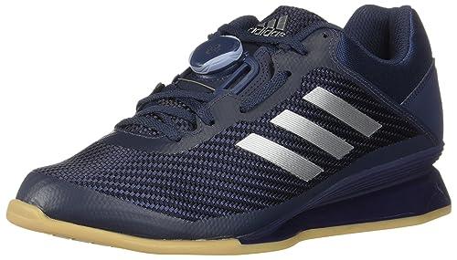 e41b2a2df748 adidas Men's Leistung 16 II Lifting Shoes, Trace Blue/Silver Metallic/Raw  Grey