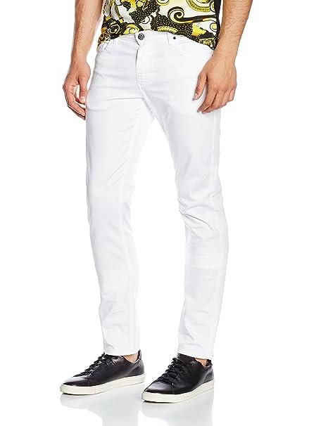 Versace Jeans Ea2gnb0sc_ehec33, Pantalón Para Hombre, Blanco (Bianco-E003), 40: Amazon.es: Ropa y accesorios