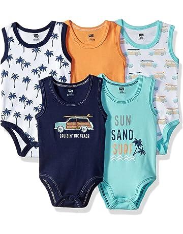 a29e138aa Hudson Baby Unisex Baby Sleeveless Cotton Bodysuits