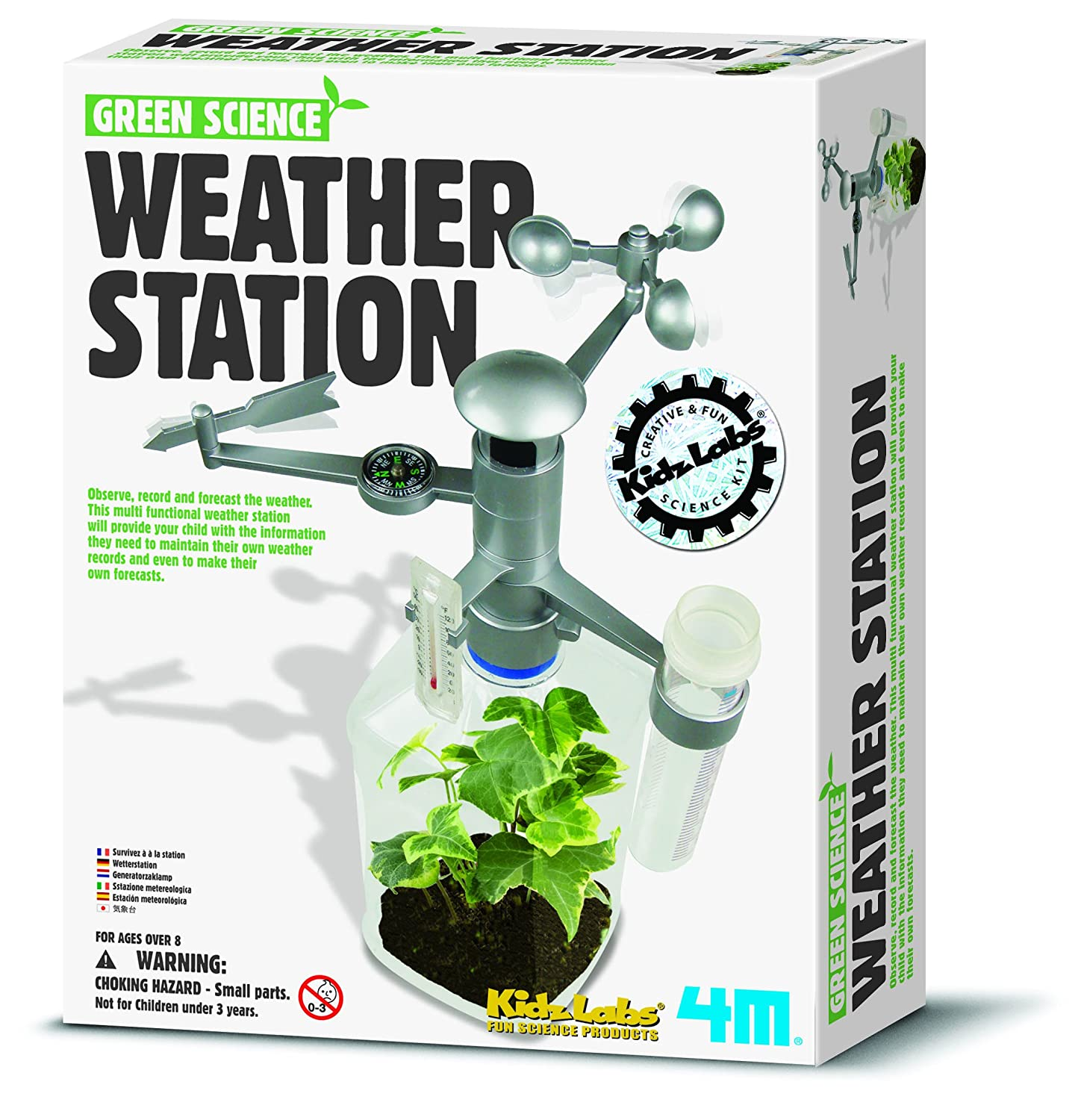Green Science - Weather Station - Girls Boys Kids Children - Build Your Own Terrarium Kit - Exciting Birthday Present Gift Fun Toys & Games Idea Age 8+ Green Science Kit