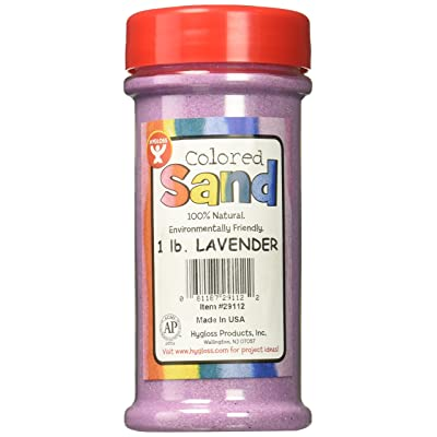 Hygloss Products Colored Play Sand - Assorted Colorful Craft Art Bucket O' Sand, Lavender, 1 lb: Toys & Games