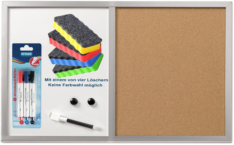 Kombitafel Whiteboard und Pinnwand aus Kork Memoboard Korktafel Magnettafel