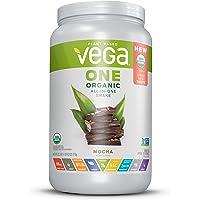 Vega One Organic All-in-One Shake Mocha (18 Servings, 1.6lb) - Plant Based Vegan Protein Powder, Non Dairy, Gluten Free, Non GMO