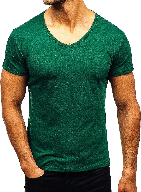 BOLF Hombre Camiseta de Manga Corta Básica Camiseta de Algodón ...