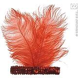 Charleston Feder Stirnband Rot