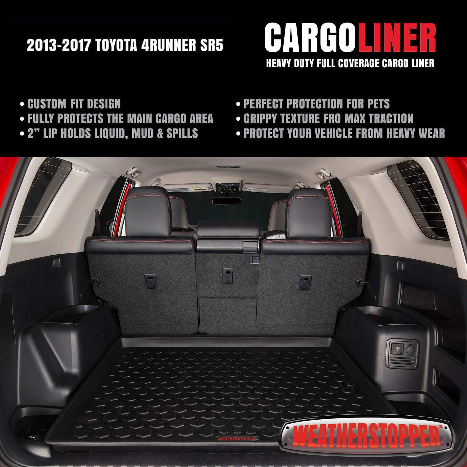 Amazon 2011 2017 toyota 4runner cargo mat by weatherstopper amazon 2011 2017 toyota 4runner cargo mat by weatherstopper guaranteed perfect fit heavy duty all weather trunk cargo liner 100 weather proof sciox Images