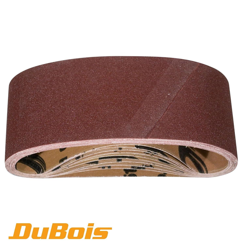 DuBois R110960 75 x 533 mm - 240 Grit Aluminum Oxide Sanding Belts, 10-Pack